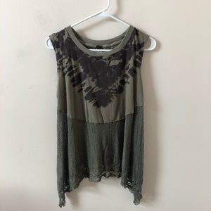 Free People We the Free Olive Green Top- Size M